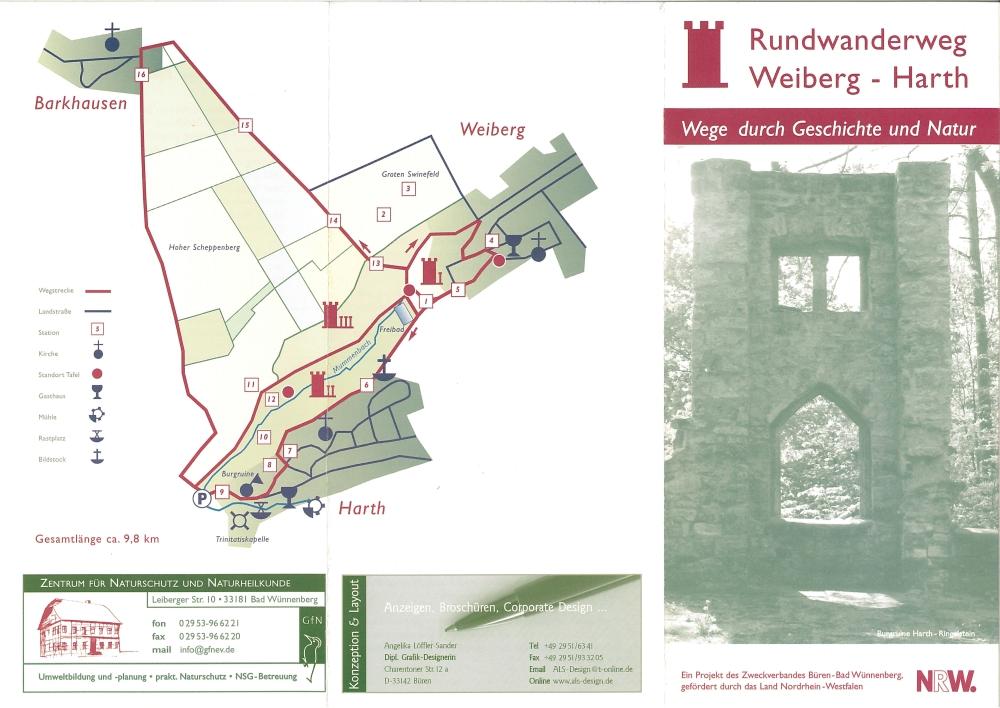Flyer Rundwanderweg Weiberg/Harth Seite 1