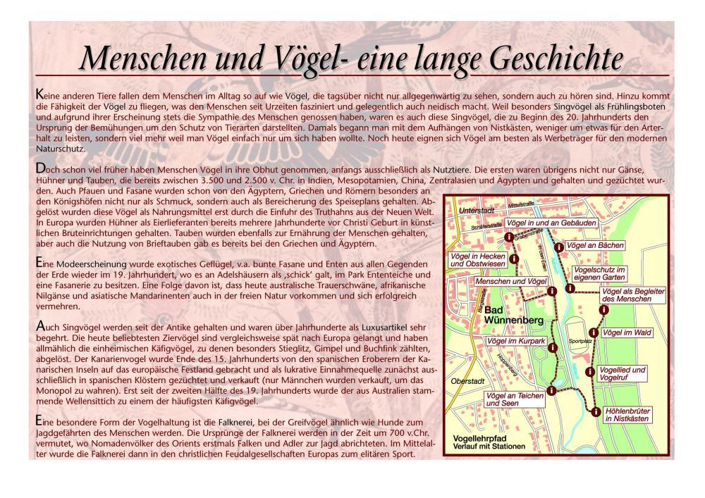 Route Vogellehrpfad
